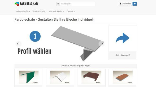 Relaunch bei Farbblech.de
